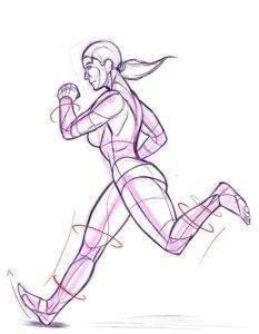 Woman running healthy